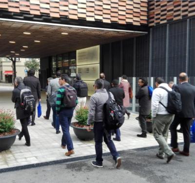 Visita Hospital Sant Pau GBC Saint Gobain arquitectura sostenible barceona